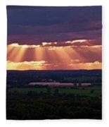 Farm Rays Fleece Blanket