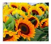 Farm Stand Sunflowers #8 Fleece Blanket