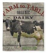 Farm To Table Dairy-jp2629 Fleece Blanket
