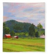Farm, Washington County Fleece Blanket