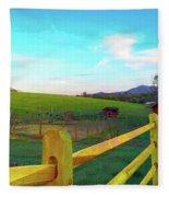 Farm Yard Fence Fleece Blanket