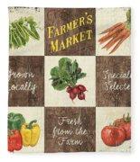 Farmer's Market Patch Fleece Blanket
