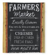 Farmer's Market Signs Fleece Blanket