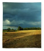 Farmers Race Against The Weather Frankenmuth Michigan Fleece Blanket