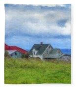 Farmhouse By The Sea Fleece Blanket