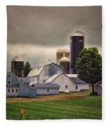 Farming Before The Storm Finger Lakes New York 04 Fleece Blanket