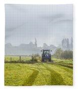 Farming In Clackmannan Fleece Blanket