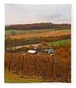 Farming In The Valley Fleece Blanket