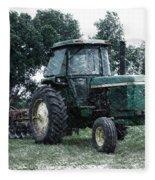 Farming John Deere 4430 Pa 01 Fleece Blanket