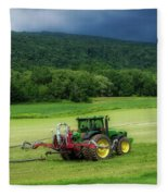 Farming New York State Before The July Storm 02 Fleece Blanket
