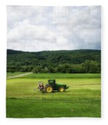 Farming New York State Before The July Storm 03 Fleece Blanket
