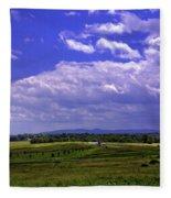 Farmland In Gettysburg Version II Fleece Blanket