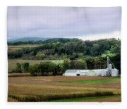 Farmland In Pennsylvania Fleece Blanket