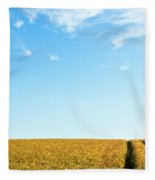 Farmland To The Horizon 1 Fleece Blanket
