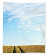 Farmland To The Horizon 2 Fleece Blanket