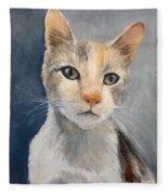 Farmyard Cat Fleece Blanket
