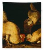 Farmyard Fowls Fleece Blanket