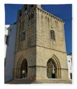 Faro Main Church Bells Tower Fleece Blanket
