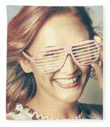 Fashion Eyewear Pin-up Fleece Blanket