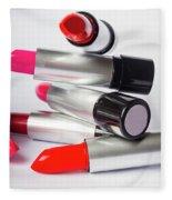 Fashion Model Lipstick Fleece Blanket