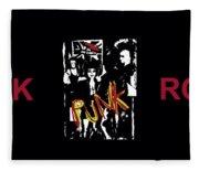 Punk Rock Alternative Style Design Fleece Blanket
