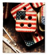 Fashioning A Usa Design Fleece Blanket
