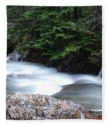 Fast Water Tumbling Fast  Fleece Blanket