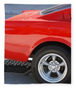 Fastback Mustang Fleece Blanket