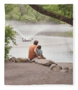 Father And Son 2 Fleece Blanket