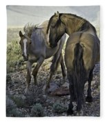 Father And Son Fleece Blanket