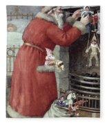 Father Christmas Fleece Blanket