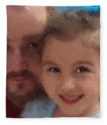 Father Daughter Fleece Blanket