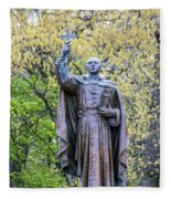 Father Marquette Fleece Blanket