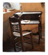 Father Serra's Desk Fleece Blanket