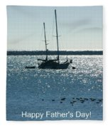 Father's Day Card - Peaceful Bay Fleece Blanket