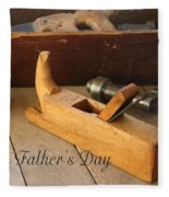 Fathers Day Tools Fleece Blanket