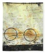 Father's Glasses Fleece Blanket
