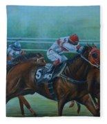 Favorite, Horse Race Art Fleece Blanket