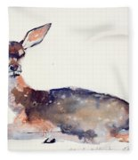 Fawn Fleece Blanket by Mark Adlington