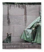 Fdr Memorial - Neither New Nor Order Fleece Blanket