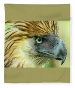 Fearless Philippine Eagle Fleece Blanket