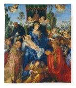 Feast Of Rose Garlands Fleece Blanket
