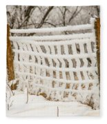 Feather Dusted Fleece Blanket