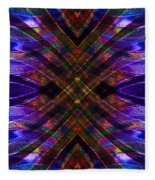 Feathered Stained Glass Fleece Blanket