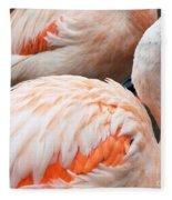 Feathers Of Flamingo Fleece Blanket