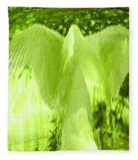 Feathers Of Light - Green Fleece Blanket
