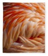 Feathers Of Pink Fleece Blanket