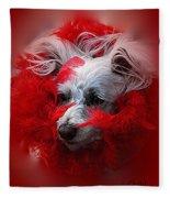Feathers Of Red Fleece Blanket