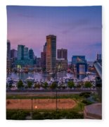 Federal Hill In Baltimore Maryland Fleece Blanket