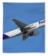 Fedex Express Boeing 757-230 N998fd Phoenix Sky Harbor January 19 2016  Fleece Blanket